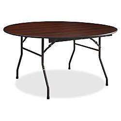 Lorell Mahogany Round Banquet Table Mahogany