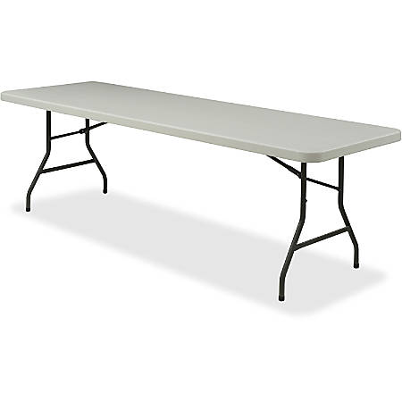 Lorell® Banquet Folding Table, Rectangle, 8'W, Gray