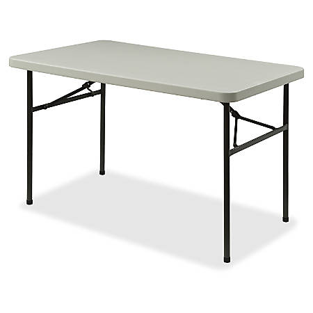 Lorell® Banquet Folding Table, Rectangle, 4'W, Gray