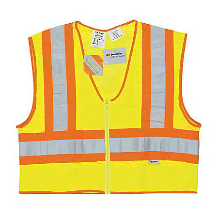 River City Luminator Class II Flame Resistant Vest, Large, Fluorescent Lime