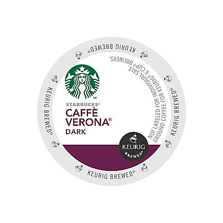 Starbucks® Caffe Verona Coffee K-Cups®, Box Of 24