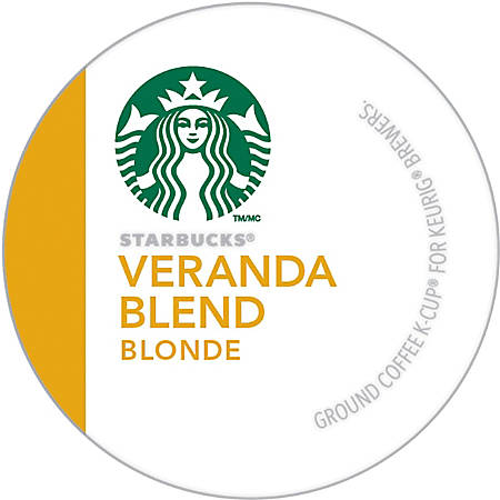 Starbucks® Veranda Blend Coffee Single-Serve K-Cup®, 0.1 Oz, Carton Of 24
