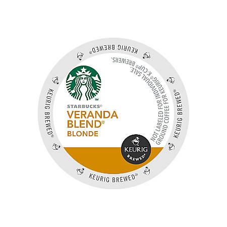 Starbucks Veranda Blend Coffee K-Cup® Pods, 0.1 Oz, Box Of 24 Pods