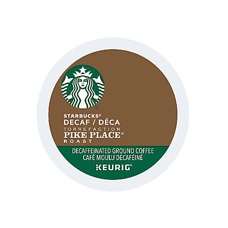 Starbucks® Pike Place Decaffeinated Coffee K-Cups®, 0.10 Oz, Box Of 24