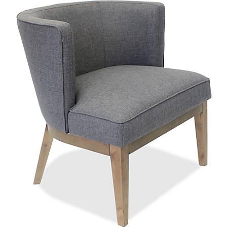 Lorell® Linen Fabric Accent Chair, Gray/Walnut