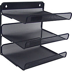 Lorell Mesh 3 Tier Desk Shelf