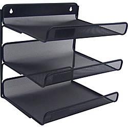 Lorell Mesh 3 Tier Desk Shelf