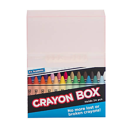It's Academic Crayon Storage Box, Assorted Colors