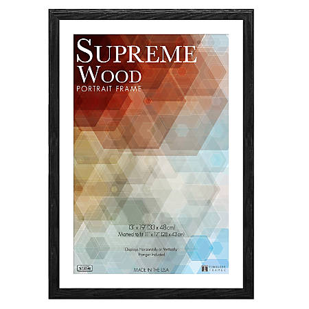 "Timeless Frames® Supreme Picture Frame, 13"" x 19"", Black"