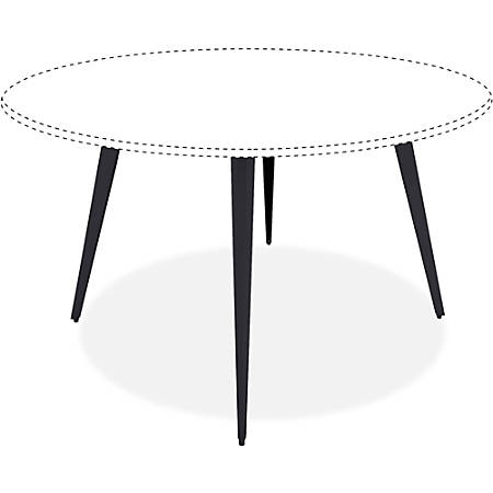 "Lorell Round Conference Table Steel Base - Black Base - 28.50"" Height x 35"" Width x 35"" Depth - Assembly Required"