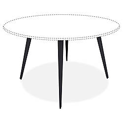 Lorell Round Conference Table Steel Base