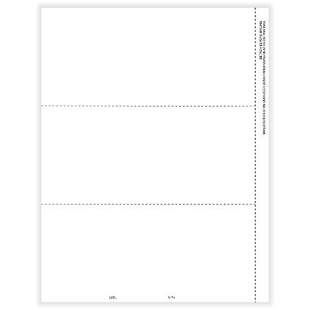"""ComplyRight™ 1099/W-2 Blank Tax Forms, 3-Up Horizontal, 8-1/2"""" x 11"""", Pack Of 50 Forms"""