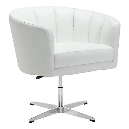 Terrific Zuo Modern Wilshire Occasional Chair White Chrome Item 9798504 Cjindustries Chair Design For Home Cjindustriesco