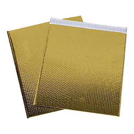 "Office Depot® Brand Glamour Bubble Mailers, 22-1/2""H x 19""W x 3/16""D, Gold, Pack Of 48 Mailers"