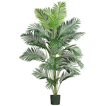 Nearly Natural 7'H Paradise Palm Tree With Pot, Green