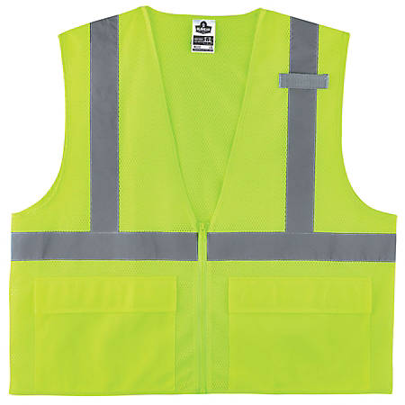Ergodyne GloWear Safety Vest, Standard, Type-R Class 2, Small/Medium, Lime, 8220Z