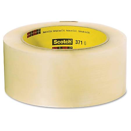 "Scotch Box-Sealing Performance Tape 371 - 2.83"" Width x 54.68 yd Length - 3"" Core - Synthetic Rubber - Polypropylene Film Backing - Long Lasting, Medium Duty - 24 / Carton - Clear"