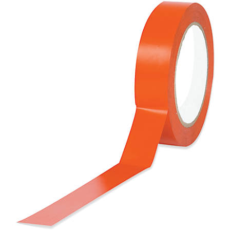 "BOX Packaging Solid Vinyl Safety Tape, 3"" Core, 1"" x 36 Yd., Orange, Case Of 3"