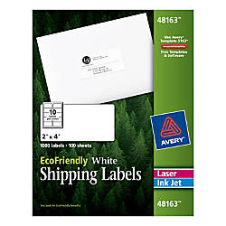 Avery EcoFriendly Permanent Shipping Labels 48163