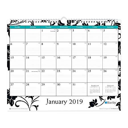 "Blue Sky™ Monthly Wall Calendar, 15"" x 12"", Barcelona, January to December 2019"