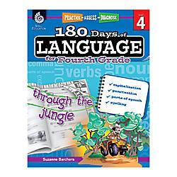 Shell Education 180 Days Of Language