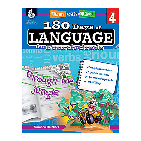 Shell Education 180 Days Of Language Workbook, Grade 4