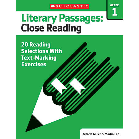 Scholastic Literary Passages Close Reading Workbook, Grade 1
