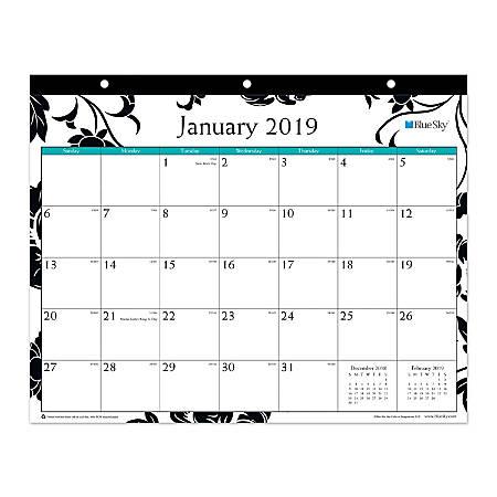 "Blue Sky™ Monthly Tablet Calendar, 8 3/4"" x 11"", Barcelona, January to December 2019"