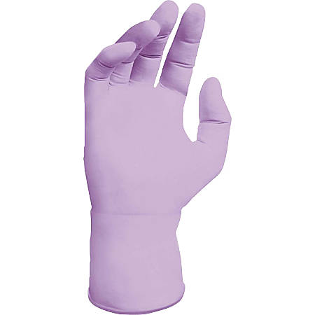 Kimberly-Clark Lavender Nitrile Exam Glove - Small Size - Nitrile - Lavender - Latex-free, Ambidextrous, Textured Fingertip, Beaded Cuff - For Laboratory Application - 2500 / Carton