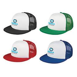 Flat Bill Trucker Hat One Size