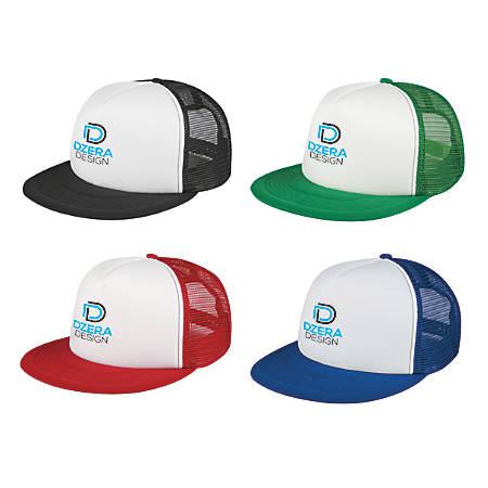 Flat Bill Trucker Hat, One Size Fits Most