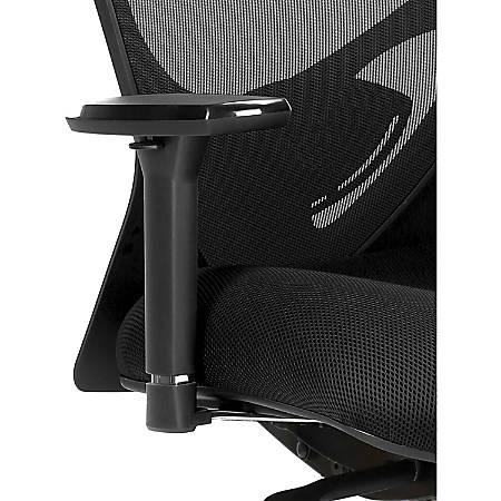 Lorell® 6-Way Adjustable Arm Kit, Black