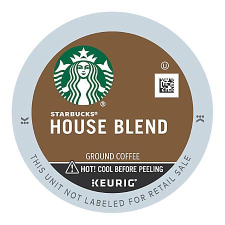 Starbucks® House Blend Coffee Single-Serve K-Cup®, 0.42 Oz, Carton Of 24