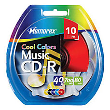 Memorex Music CD R Recordable Media
