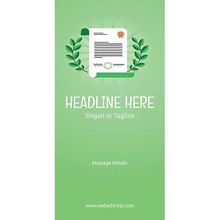 Custom Vertical Display Banner, Certificate