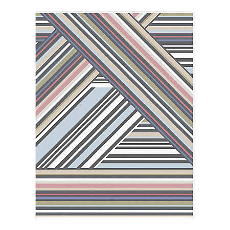 "Nicole Miller For Blue Sky™ Monthly Planner, 8-1/2"" x 11"", Aviator Stripe Clear, January To December 2020, 116298"