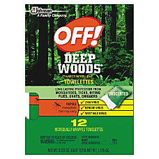 OFF Deep Woods Towelettes 012 Oz