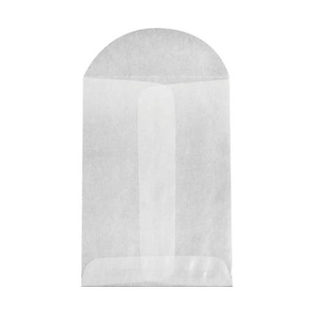 "LUX Open-End Envelopes With Flap Closure, 2 3/4"" x 3 3/4"", Glassine, Pack Of 10"