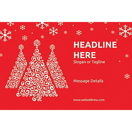 Customizable Floor Decal, Horizontal, Red Christmas
