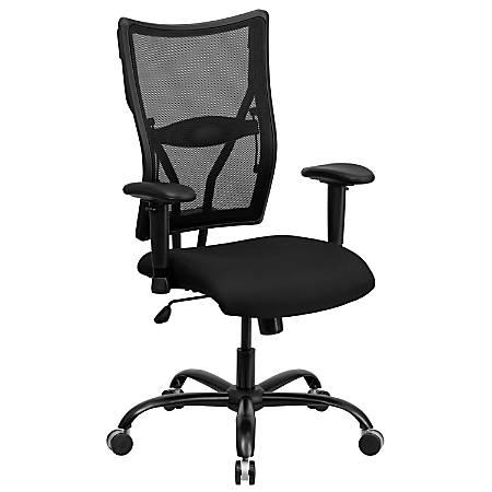 Flash Furniture HERCULES Mesh High-Back Big and Tall Swivel Chair, Black