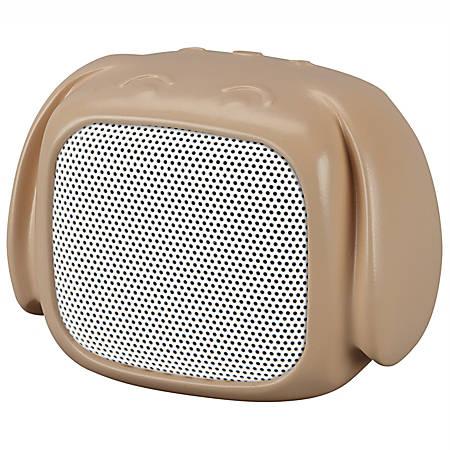 "iLive Bluetooth® Dog Wireless Speaker, 3.15""H x 2.05""W x 2.64""D, Brown, ISB19DOG"