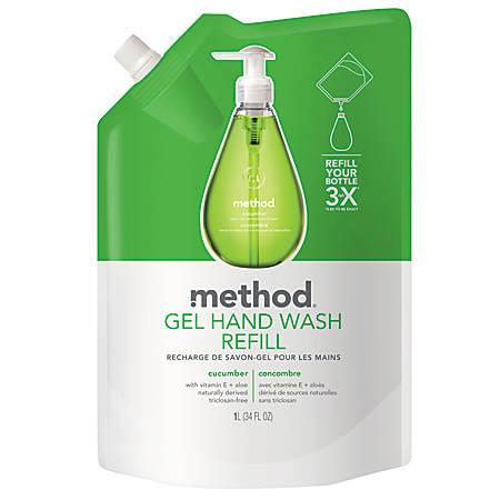 Method™ Gel Hand Wash Refill, Cucumber, 34 Oz