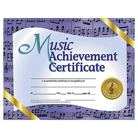 "Hayes Music Achievement Certificates, 8 1/2"" x 11"", Purple, 30 Certificates Per Pack, Bundle Of 6 Packs"