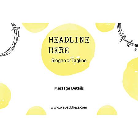 Adhesive Sign, Abstract Yellow, Horizontal