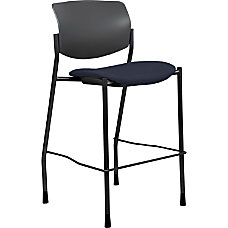 Lorell Contemporary Fabric Stool Dark BlueBlack
