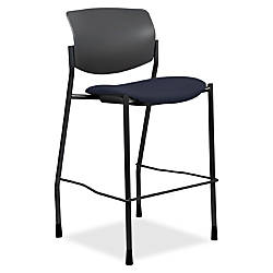 Lorell Fabric Seat Contemporary Stool Crepe