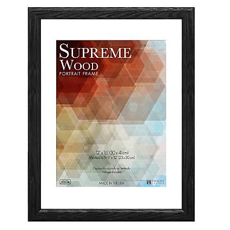 "Timeless Frames® Supreme Picture Frame, 12"" x 16"", Black"