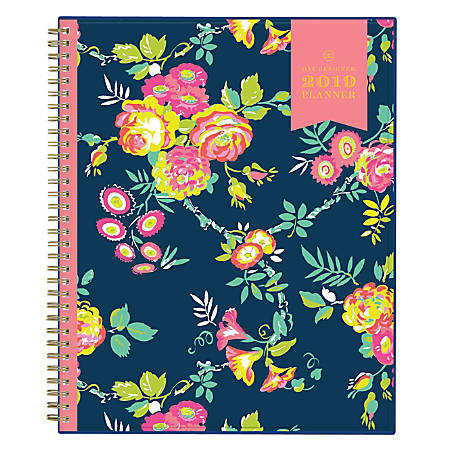 "Blue Sky™ Day Designer® CYO Weekly/Monthly Planner, 11"" x 8 1/2"", Peyton Navy, January to December 2019"