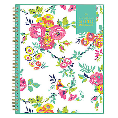"""Blue Sky™ Day Designer® CYO Weekly/Monthly Planner, 11"""" x 8 1/2"""", Peyton White, January to December 2019"""