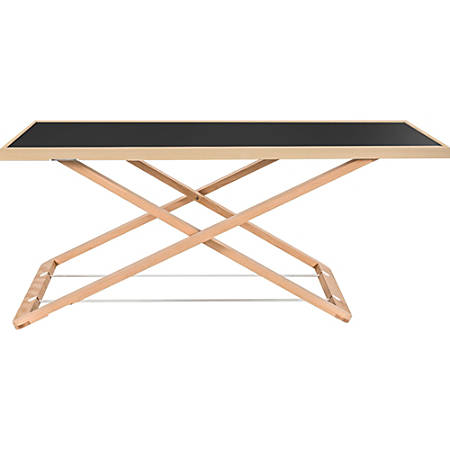 "Lorell Ultra-slim Desk Riser - 17"" Height x 32"" Width x 22"" Depth - Desktop - Black, Natural"